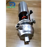 25.4mm Stainless Steel Food Grade Pneumatic Flow Diversion Valve