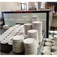 Electric heating continuous furnace ceramic glass annealing