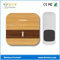 Forrinx B13 Wood Grain Printing Plastic Cover 1000feet Distance Bird Sound Chime Wirefree Doorbell
