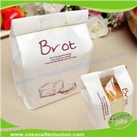 Kraft paper packaging bag Food Industrial Use Clear Pvc Windows Take Away Bread Kraft Paper Bags