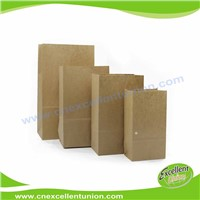 Kraft paper packaging bag Food Industrial Use Take Away Bread Paper Bags Shopping Bag