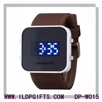 Fashion silicone LED watch