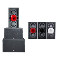 Dual 12'' Speaker Two-Way Full Range System Night Clubs Speaker Box Audio