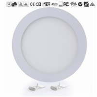 "18W LED Recessed Ceiling 8"" Round Panel Down Bright Light White Lamp"