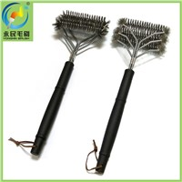 3-head stainless steel barbecue tools grill brush