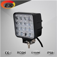 High quality 5inch square 12v 24v 48w IP67 waterproof offroad boat tractor trailers led work light