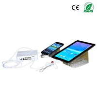 mobile retail shop security alarm channel controller for displaying mobile phone and tablet