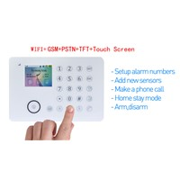 GSM +PSTN alarm system&TFT wireless home alarm system support mobile phone control