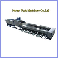 Mango cleanging sorting machine, mango washing grading machine