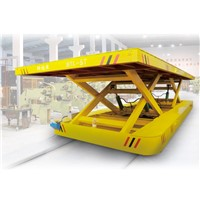 Scissor hydraulic lifting  transfer cart, electric railroad transportation