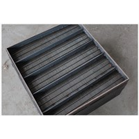 Flat wedge wire panel with frame