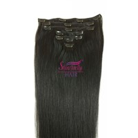 Good Sale clip in virgin human hair extensions