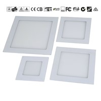 2016 SMD Recessed Square LED Panel 3W 6W 9W 12W 15W 18W Slim Square LED Panel Light
