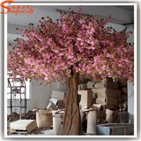 3.5m high fiberglass trunk artificial cherry blossom trees shade trees on sale