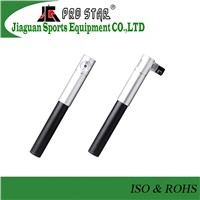 High Quality Mini Alloy Dual Action bicycle alloy hand pump with Pressure Gauge