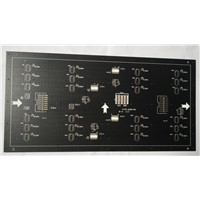 47 mil thickness double side Printed Circuits Board (PCB)Matte black S/M communication Solution
