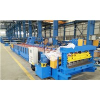 Roll Former,Roof roll forming machine with hydraulic profile cutter