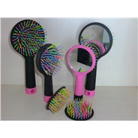 Portable rainbow hair brushes for scalp massage