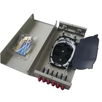Indoor and Outdoor Wall mounted Optic Fiber Terminal Box with PLC splitter and adapter