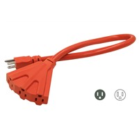UL/CUL Outdoor extension cord with Triple outlet 12AWG/3C 25'