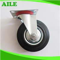 125mm Swivel Black Rubber Caster