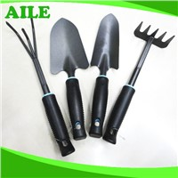 4pcs Small Black Metal Garden Tool Set