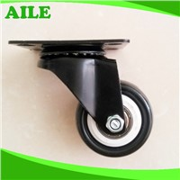 50mm Swivel Light Duty Black PU Small Caster Wheels