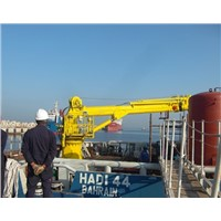 Hydraulic telescopic crane for marine ship