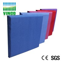 fabric packed PU leather outside packed acoustic panel board for room decoration