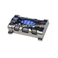Spider style housing car capacitors with 12 Blue LED Flash indicator lights