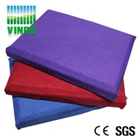 PU leather outside packed polyester fiber cotton sound absorbing acoustic panel for theater