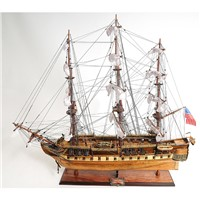 CONSTITUTION COPPER BOTTOM E.E MODEL SHIP