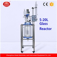 S-20LLab Chemical Stainless Steel Frame Stirring Glass Reactor