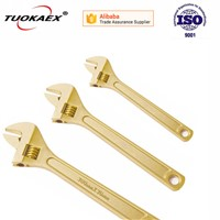 Non sparking adjustable spanner wrench explosion proof tools