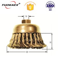Non sparking knot wire cup brush brass brush