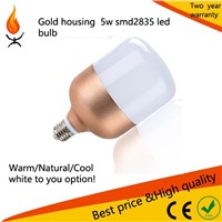 SMD2835 glod Aluminum Lamp Bulb Lights Item Type led 120 degree 5w/10w/14w/18w/26w