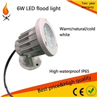 high waterproof warm/natural/cool white IP65 6w outdoor led garden step flood light