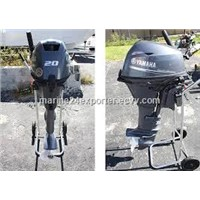 Free Shipping For Used Yamaha 20 HP 4-Stroke Outboard Motor