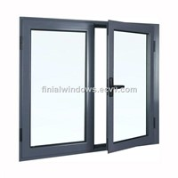 European style aluminum glass casement windows made in china