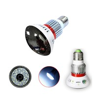 Wireless  Hidden Bulb WIFI Camera with LED light and Mirror Cover