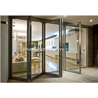 Luxury HT75 Series aluminum folding door with double tempered glass