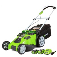 GreenWorks 25302 Twin Force G-MAX 40V Li-Ion 20-Inch Cordless Lawn Mower