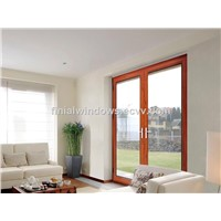 High end thermal break aluminum french door