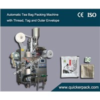 Flat Tea Bag Packing Machine with Outer Envelop by Cup Filler