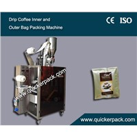 Ultrasonic Seal Dirp Coffee Packaging Machine with Outer Envelop