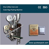 Dirp Coffee Bag Packing Machine with Outer Envelop Cost-effective