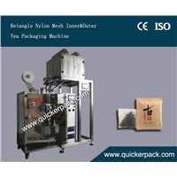 Flat Ultrasonic Nylon Tea Bag Packing Machine with Outer Envelop
