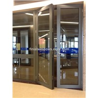 European standard HB80 Series thermal break aluminum casement doors