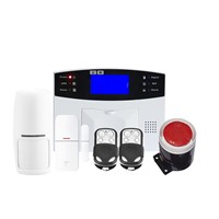 LCD Screen 2G Smart Wireless Home Security Burglar GSM/SMS Alarm System