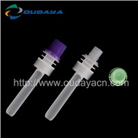 Long plastic straw tube with cap for juice or jelly soft doypack